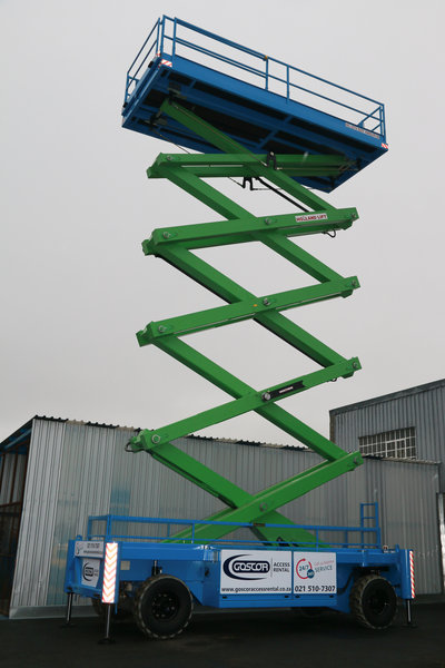 Tallest Aerial Lift : Africa s largest tallest scissor lift launched by goscor
